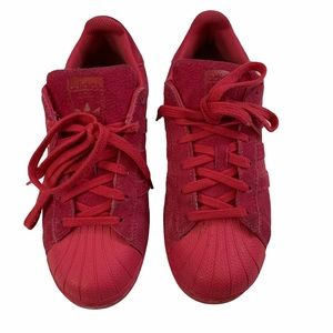 Adidas Superstar Hot Pink/ Red Sneakers